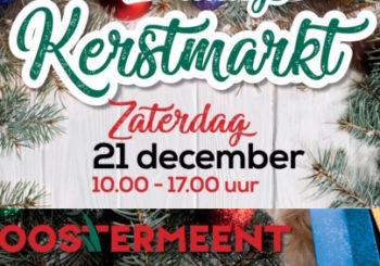 Bezoek zaterdag 21 december onze kraam op de kerstmarkt in Winkelcentrum Oostermeent